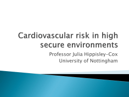 Powerpoint - CVD risk in high secure patients Nov 2012