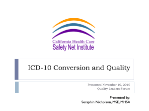 ICD-10 Overview