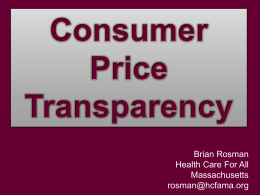 Consumer Price Transparency