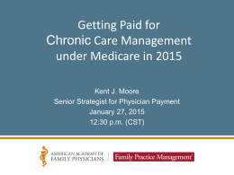Getting Paid for Chronic Care Management under Medicare in 2015