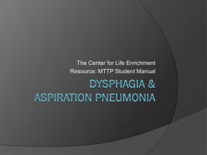 Dysphagia - The Center for Life Enrichment