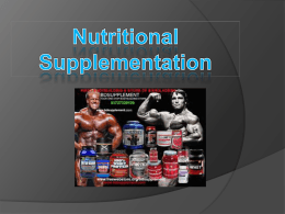 Nutritional Supplementati