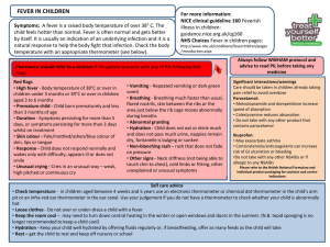 Self care pathway fever in children (Final 2)