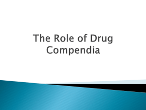 The Role of Drug Compendia - SPL-work