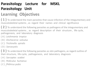 Parasitology Lecture MSKL - Qassim College of Medicine