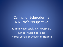 Caring for Scleroderma A Nurse`s Perspective
