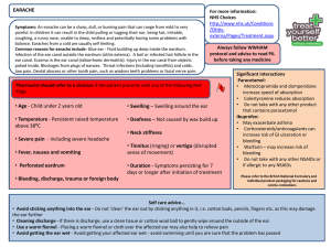 Self care pathways earache (Final 2)