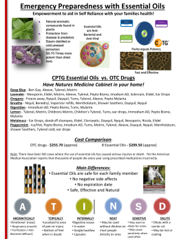 CPTG Essential Oils vs. OTC Drugs Have Natures Medicine Cabinet