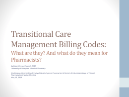 Transitional Care Management Billing Codes: What are
