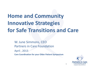 Care Coordination Symposium, June Simmons, April, 2013