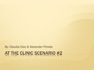 AT THE Clinic scenario #2