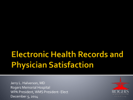 Electronic Health Records Update