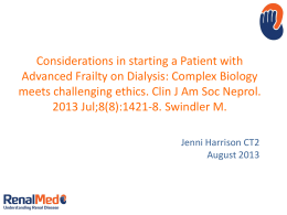 Considerations in starting a Patient with Advanced