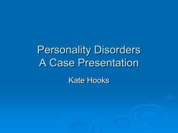30 Mar 2010 - Personality Disorders