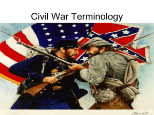 Civil War Terminology