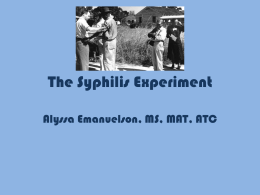 The Syphilis Experiment and the Tuskegee Airmen