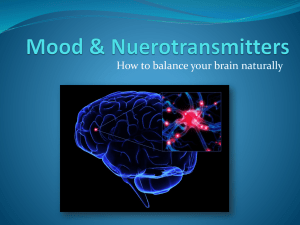 Mood & Nuerotransmitters - Center for Optimal Health