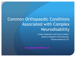 Complex Paediatric Neurodisability