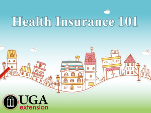 Health Insurance 101 - University of Georgia