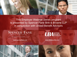 Second Qualifying Event - United Benefit Advisors