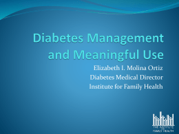 Diabetes Management and Meaningful Use