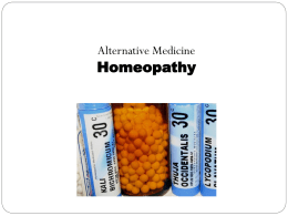 Homeopathy - ZaidanClinic