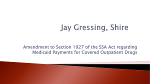 Amendment to Section 1927 of the SSA Act regarding Medicaid