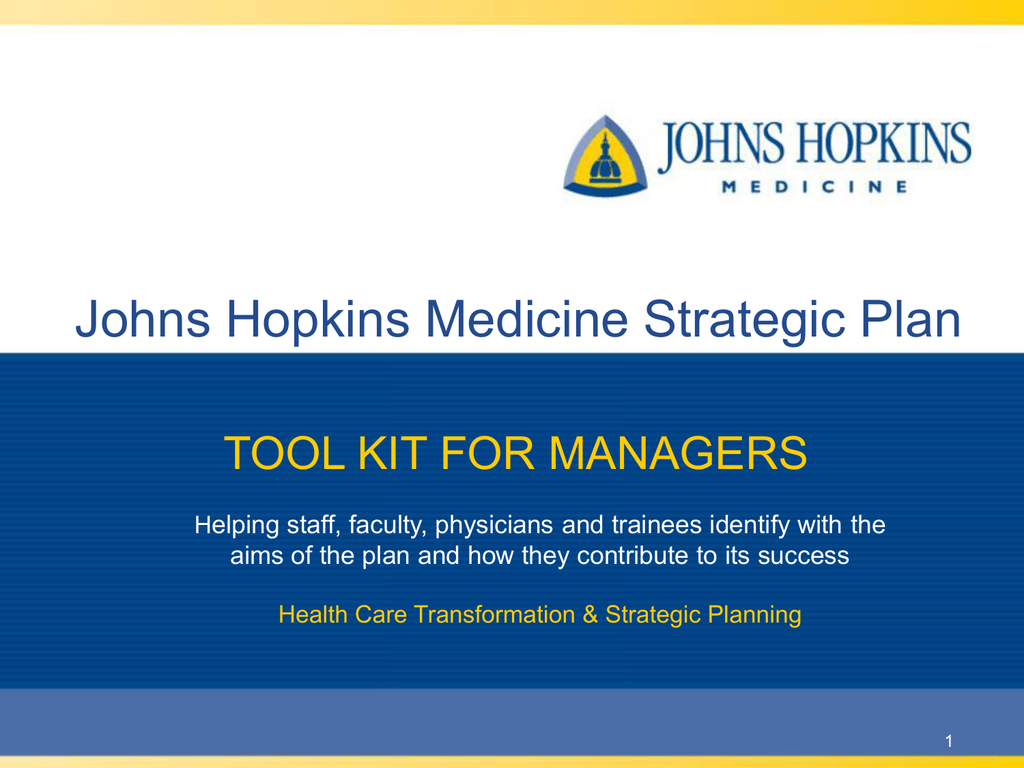 Johns Hopkins Medicine Strategic Plan