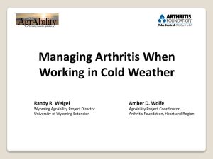 Does cold weather worsen arthritis?