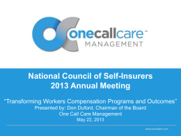 Requirement 1 - National Council of Self Insurers