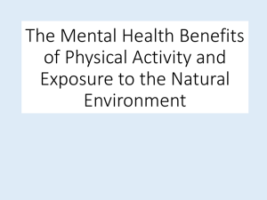 The Mental Health Benefits of Physical Activity and