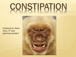 Constipation: Causes and Treatments