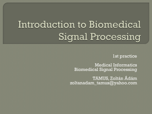 Medical Informatics Biomedical Signal Processing