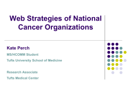 Web Strategies of National Cancer Organizations