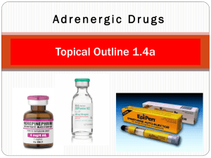 Adrenergic Drugs - Nursing Pharmacology