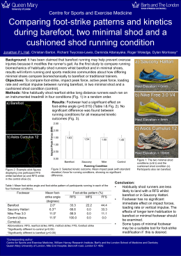 Comparing foot-strike patterns and kinetics