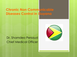 Chronic Non Communicable Diseases in Guyana