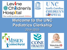 Welcome to the Pediatrics Clerkship