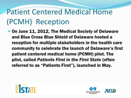 Slide 1 - Medical Society of Delaware