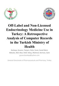 Off-Label and Non-Licensed Endocrinology Medicine Use
