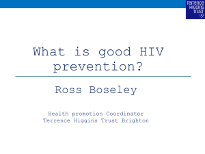 Ross Boseley (THT) - HIV Prevention England
