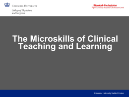 Microskills in Teaching