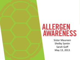 Allergen Awareness - University of Maryland Dining Services