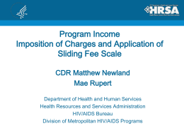 Program Income, Imposition of Charges and