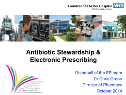 Antibiotic Stewardship and ePrescribing