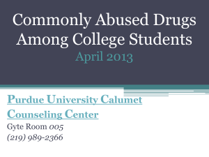Commonly Abused Drugs Among College Students
