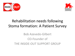 Rehabilitation needs following Stoma formation