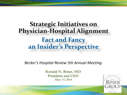 Professional Perspective - Becker`s Hospital Review