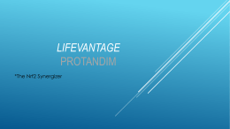LifeVantage - It Saved Me