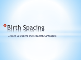 Birth Spacing PowerPoint